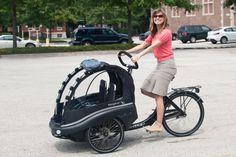 it's a bike, it's a stroller... it's a TrioBike V2 from Copenhagen ...