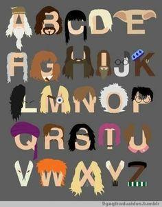 Alfabeto Potter Para todos los que, tiro por viaje, se tenían que andar cambiando de banqueta.