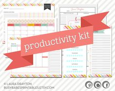 Blog Planning Kit Blogger's Kit Blog by busybabesprintables