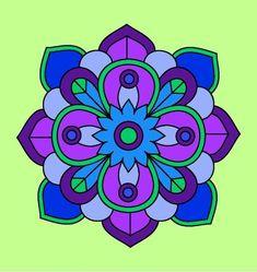 Mandalas coloreados fáciles - Mandalaweb Mandala Art, African Crafts, Beautiful Gif, Flower Doodles, Painted Pots, Mandala Coloring, Dot Painting, Gel Pens, Spring Crafts