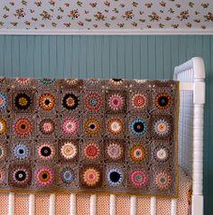 """Sunshine Day Baby Afghan"" Crochet Downloadable PDF Pattern, $6"