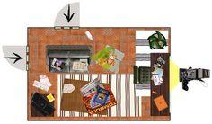 Progetto scenografia serie tv - stile collage (Scenic design - collage)