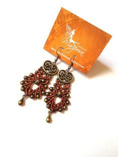 Hippiechic Macrame earrings boho bohemian par creationsmariposa, $20.00