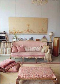 Pink sofá