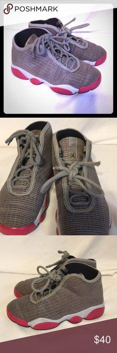 Air Jordans girls grey pink and white 13c nike