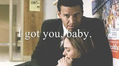 I couldn't tell while watching this episode if he said baby or not. But this made my day knows he called her baby!