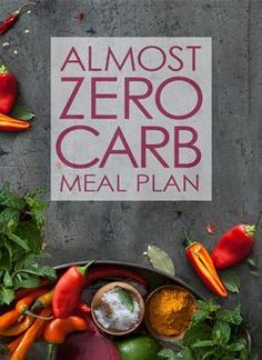 the almost zero carb meal plan
