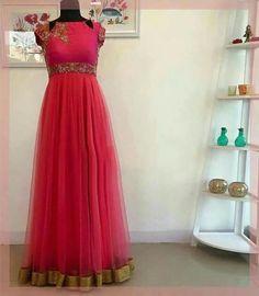 Shine like a moon and spark like a star... Best suitable for Sangeeth/Mahanadi/haldi functions... To order, pls WhatsApp on +91 94929 91857  #Anarkali #designer #customized