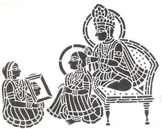 Sanjhi is a traditional form of artwork created by papercutting stencils which are used to decorate palaces and temples for celebrations in India.
