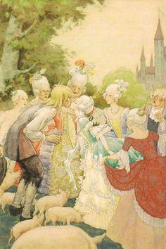 kidpix: Rudolf Koivu the Swineherd kisses the princess... Ach, du lieber Augustin, Alles ist hin!
