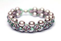 "DIY Kreativset Armband ""PERY"" Lila-Grün-2  von Perlen Harmony Oase auf DaWanda.com"