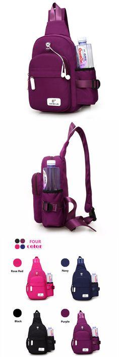 US$15.72+Free shipping. Women Nylon Bag, Crossbody Bag, Durable Chest Bag, Shoulder Bag, Large Capacity, Waterproof. Color: Purple, Rose Red, Black, Navy.