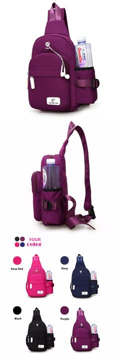 US$15.72+Free shipping. Women Nylon Bag, Crossbody Bag, Durable Chest Bag, Shoulder Bag, Large Capacity, Waterproof. Color: Purple, Rose Red, Black, Navy.