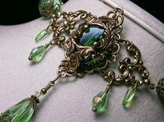 Light Forest Lime Peridot Green Crystal by TitanicTemptations