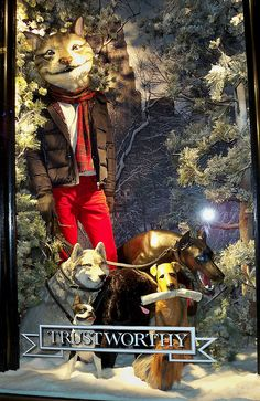 Bergdorf Goodman Men's Window Display