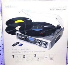 Brookstone iConvert USB Turntable Converts Vinyl Records to Digital Files 578849 #Brookstone