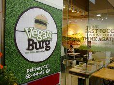 VeganBurg Singapore #restaurant #cafe Veggie Patties, Vegan Fast Food, Vegan Restaurants, Vegan Burgers, Mcdonalds, Junk Food, New Recipes, Plant Based, Singapore
