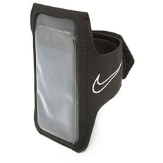 Nike Lightweight Smartphone Armband 2.0 (99 AED) ❤ liked on Polyvore featuring accessories, black and nike