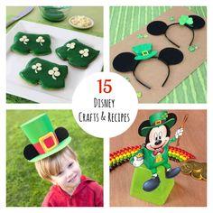 Top 15 Disney St. Patrick's Day Crafts & Recipes #StPatricksDay #StPattysDay