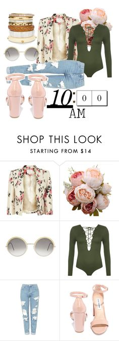 """10 am"" by vintage12murage ❤ liked on Polyvore featuring Jacques Vert, Cutler and Gross, WearAll, Topshop, Steve Madden and Chico's"