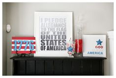 4th of July - instructions on how to make everything on this mantel. Cute!