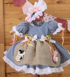Festa junina Doll Clothes Patterns, Clothing Patterns, Dress Patterns, Little Girl Dresses, Girls Dresses, Tutu Costumes, Kid Styles, Baby Dress, Toddler Girl
