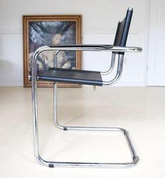 Retro Desk Chair Marcel Breuer Cesca Elbow Chair Armchair 1960s 70s Danish MCM #ArtModerne #Armchairs