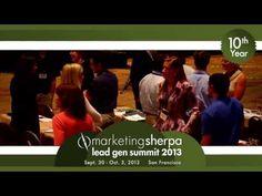 MarketingSherpa's Lead Gen Summit 2013 -- San Francisco San Francisco, Learning, Studying, Teaching, Onderwijs