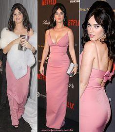 vestido da Katy Perry in pink dress Prada | Os melhores looks do Golden Globes 2016 | http://modaefeminices.com.br/2016/01/11/os-melhores-looks-do-golden-globes-2016/