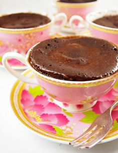 Beach cottage Recipe : Chocolate Cake in a Cup « Beach Decor Blog, Coastal Blog, Coastal Decorating