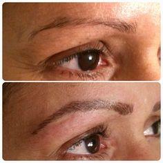 Natural looking hairstroke eyebrow tattoo at Miami Brows www.miamibrows.com #eyebrowtattoomiamu | Yelp