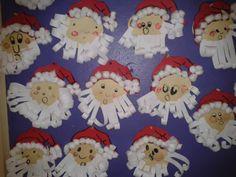 Père Noël en papier construction et ouate