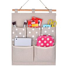 Home-Cube® Linen/Cotton Fabric Wall Door Cloth Hanging Storage Bag Case 5 Pocket Home Organizer Gift (white polka dots) Home-Cube http://smile.amazon.com/dp/B00IAM1YIW/ref=cm_sw_r_pi_dp_l-TPvb01QJYHJ