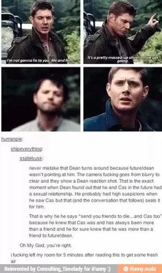 People that don't watch Supernatural need to understand Destiel isn't about two… Dean Winchester, Dean And Castiel, Supernatural Destiel, Misha Collins, Jensen Ackles, Fandoms, Bae, Super Natural, Superwholock