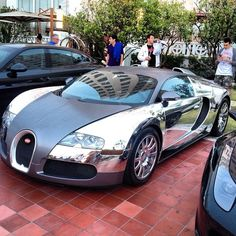 cool Chrome Bugatti with Grey center panel! opinions?...  Luxury Car Lifestyle