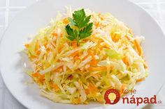 bg traditional kitchen- salad with cabbage and carrots Top Salad Recipe, Salad Recipes, Diet Recipes, Cooking Recipes, Healthy Recipes, Paleo Menu, Carrot Salad, Cabbage Salad, Russian Recipes