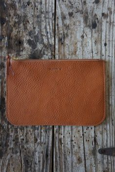 BillyKirk Simple Zipper Pouch / Clutch Tan