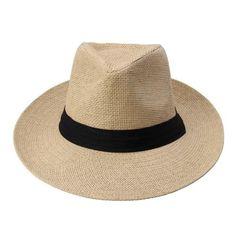 Large Brim Straw Women's Hat With Black Ribbon