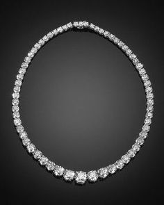 a2a35de89 Riviere Necklace, carats of perfectly matched diamonds set in platinum.
