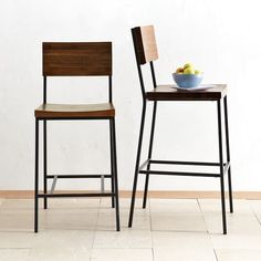 West Elm bar stools for third floor. Use chairs from AC.