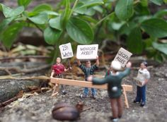 Little people scene: German protestors