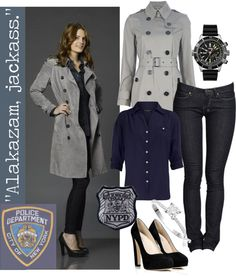 """Detective Kate Beckett, NYPD"" by themockingjay ❤ liked on Polyvore"