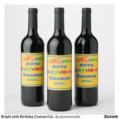 Gift Wrapping Supplies, Gift Wrapping Paper, Personalized Products, Personalized Gifts, Wine Label, Photo Quality, 50th Birthday, Fun Crafts, Cute
