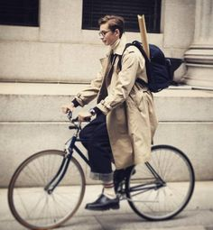 Oscar Butterwick for Cluel homme Magazine Heavy Jacket, Boy Fashion, Womens Fashion, Cycle Chic, Bike Style, Stylish Men, Bicycle Girl, Lady, Cute Outfits
