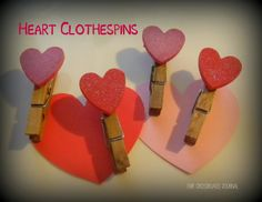 Our Crossroads Journal--Heart Clothespins for Valentine's Day