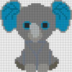 Peanut Elephant Beanie Boo Perler Bead Pattern