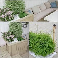 Bilderesultat for terrasse trapp og blomsterkasse