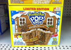 Limited Edition Gingerbread Printed Fun Pop-TArts by theimpulsivebuy, via Flickr
