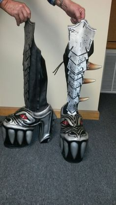 Gene Simmons Costume Monster Boots Kiss Ready To Rock 100% Leather Customed from $920.0