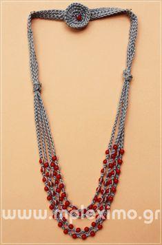 Crochet Necklace Pattern, Crochet Beaded Necklace, Crochet Jewelry Patterns, Bead Embroidery Jewelry, Crochet Bracelet, Crochet Accessories, Crochet Designs, Beaded Jewelry, Jewellery